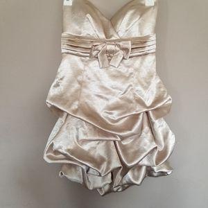 Ruched Mini Formal Dress